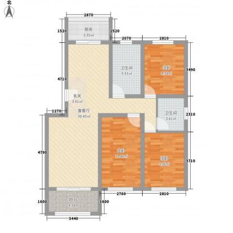 格兰小镇3室1厅2卫1厨112.00㎡户型图
