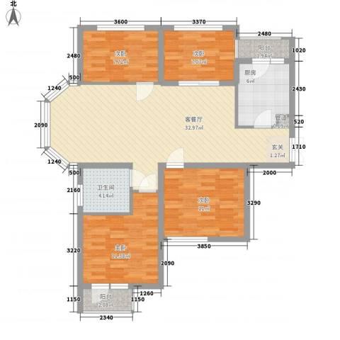 中环新天地4室1厅1卫1厨120.00㎡户型图