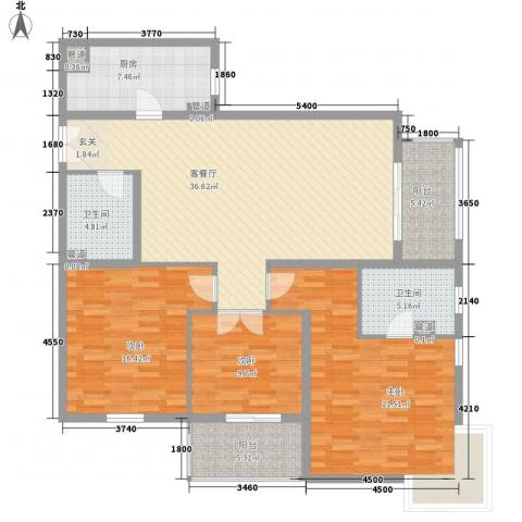 荷兰水乡四期3室1厅2卫1厨159.00㎡户型图