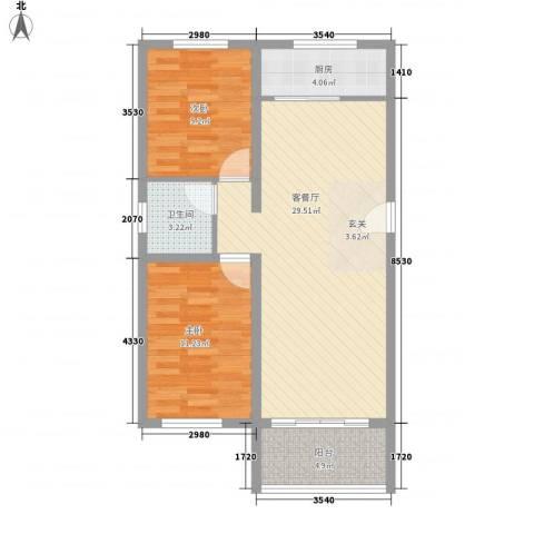 格兰小镇2室1厅1卫1厨89.00㎡户型图