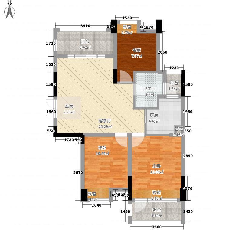玉泉花园21户型3室2厅2卫1厨