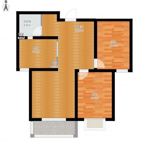榕城世家2室1厅1卫1厨99.00㎡户型图