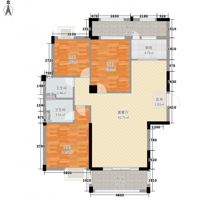 桃园福邸131.62㎡2栋03/04户型3室2厅2卫1厨