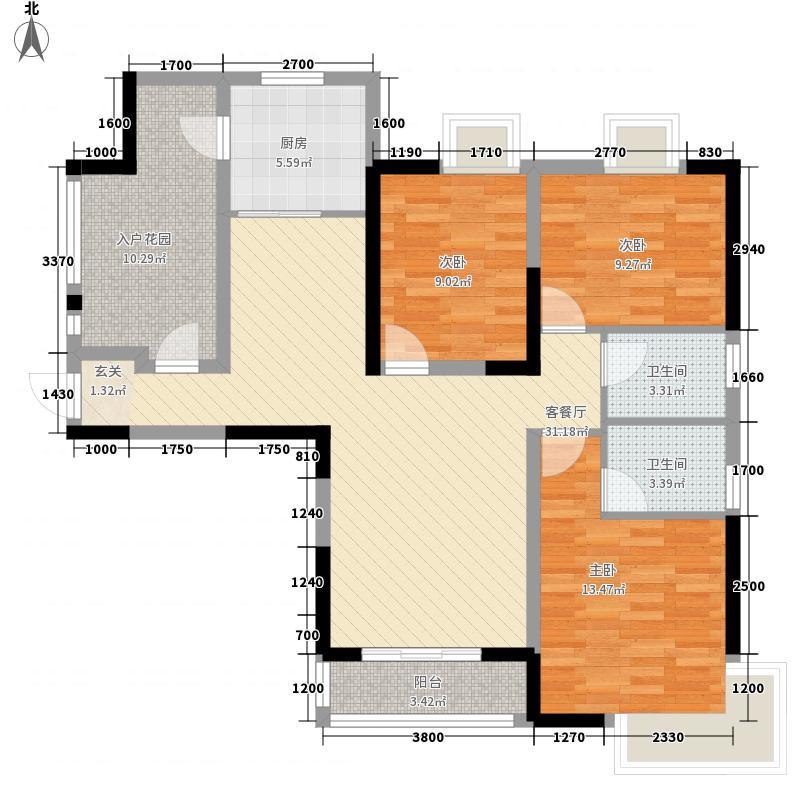 邮电综合楼3-2-2-1-4户型3室2厅2卫1厨
