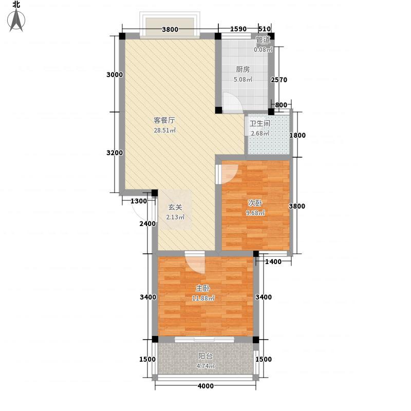中浩森林湾8.00㎡户型2室