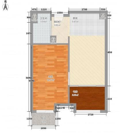 万科城・明2室1厅1卫0厨71.00㎡户型图