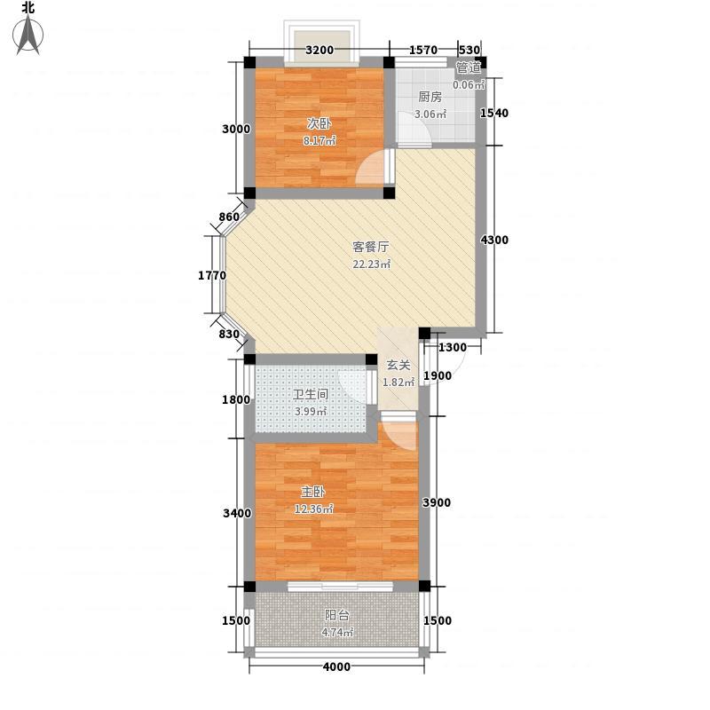 中浩森林湾户型2室