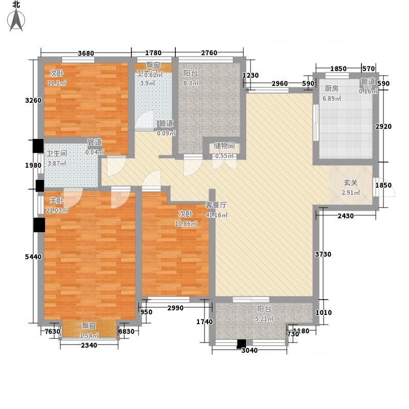 山海��(仙岳大厦)山海��21户型3室2厅2卫1厨
