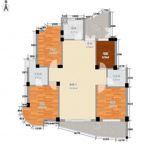 蓝湾景天4室1厅2卫1厨145.00㎡户型图