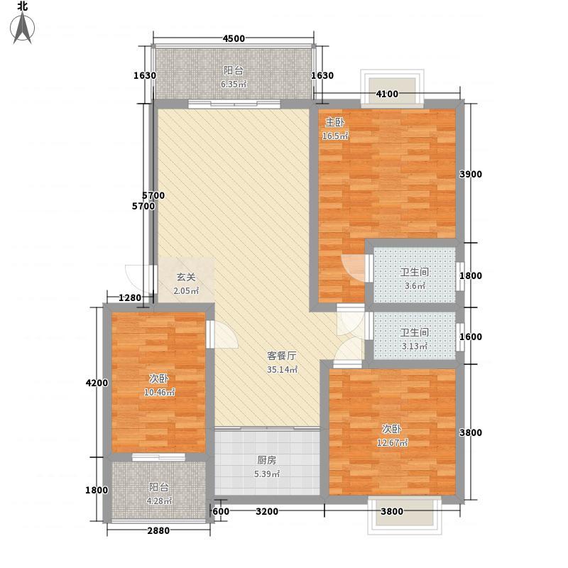 柳西新城11.00㎡29栋A户型3室2厅2卫1厨