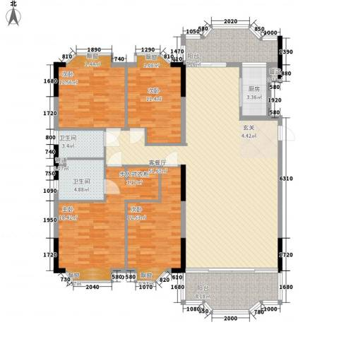 新翼银座4室1厅2卫1厨186.00㎡户型图