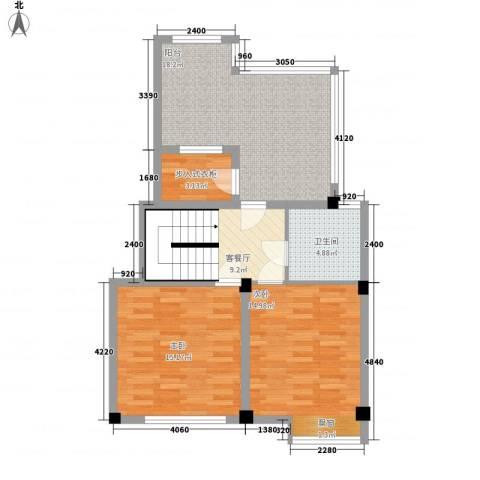 望伟花园2室1厅1卫0厨94.00㎡户型图
