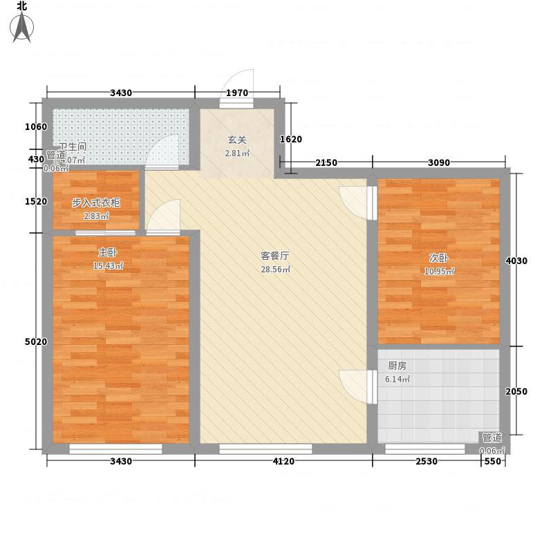 吉泰南小区花1户型2室