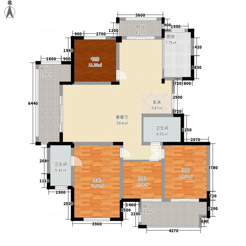 毓秀苑137.50㎡B户型3室2厅2卫