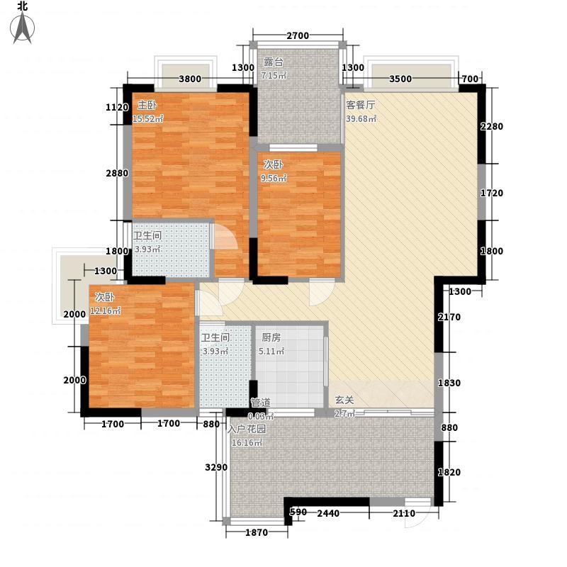 江南丽苑二期户型3室