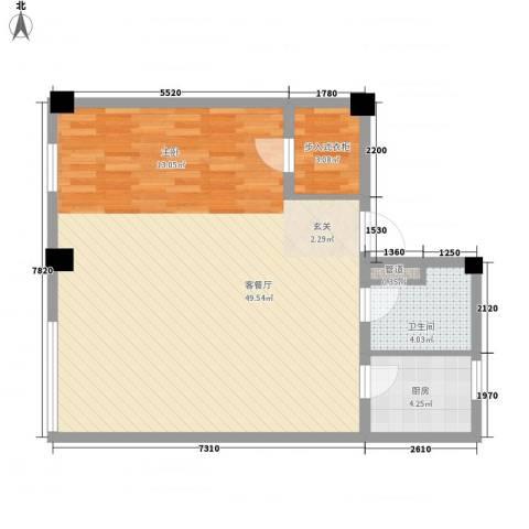 钱江BLOCK1厅1卫1厨85.00㎡户型图