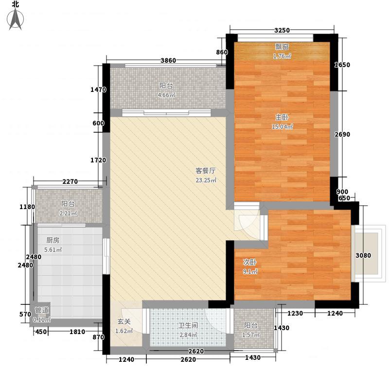 金鹏两江时光二期10幢标准层2号房户型