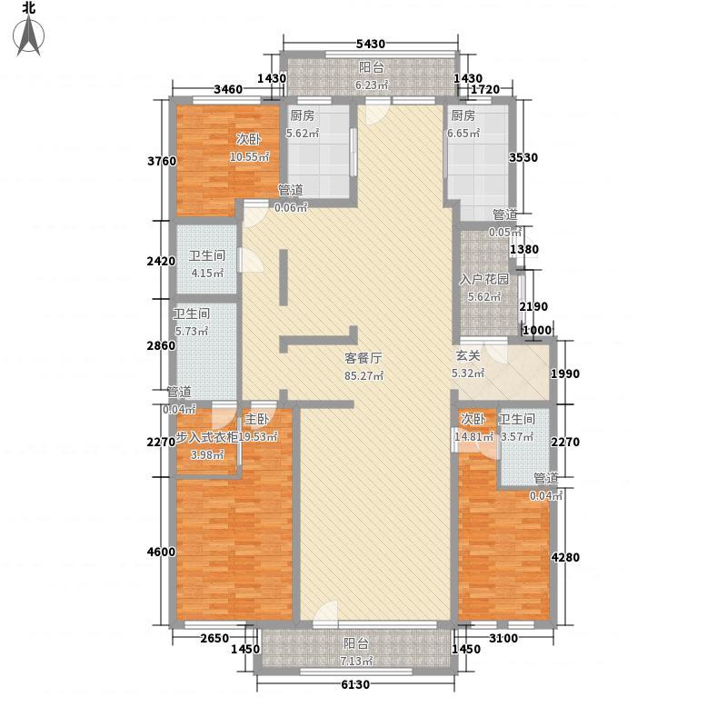 远洋公馆22.00㎡官邸户型3室3厅3卫2厨