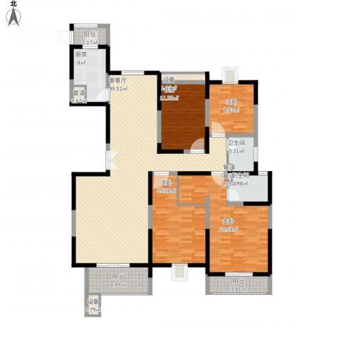 振业泊墅4室1厅2卫1厨192.00㎡户型图