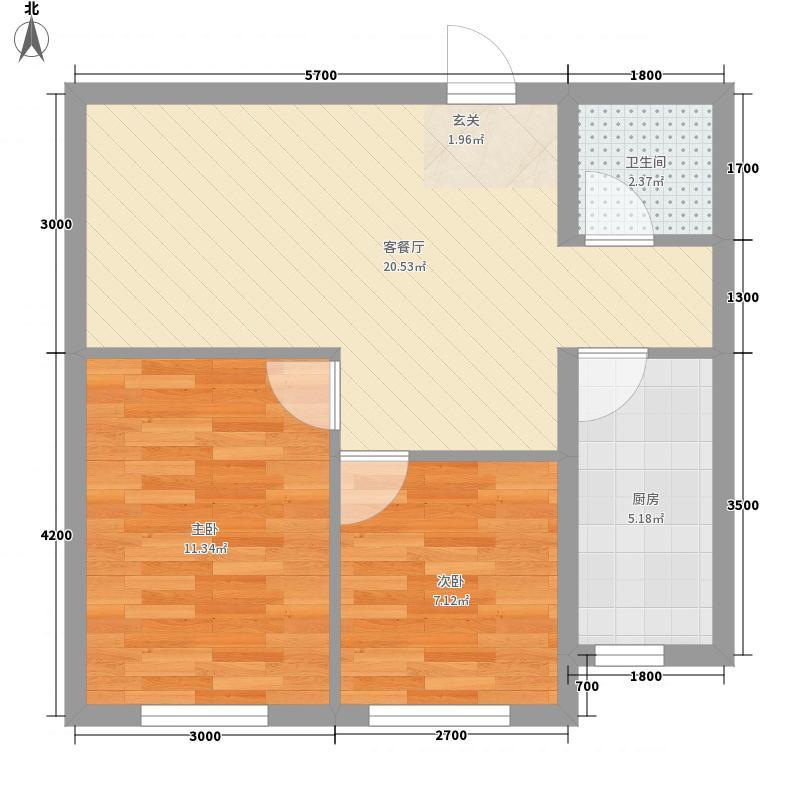 南奥国际70.40㎡南奥国际户型图户型图2室2厅1卫户型2室2厅1卫