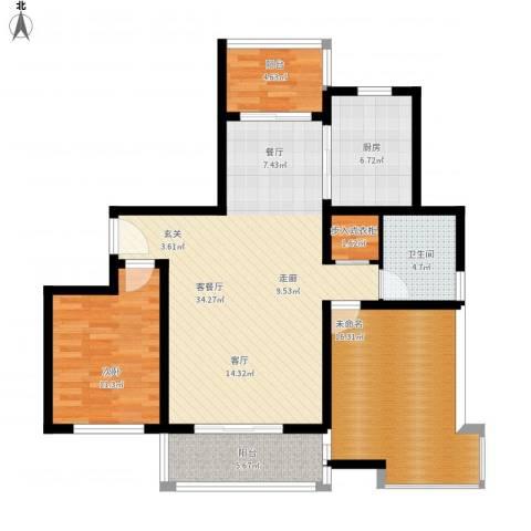 成亿宝盛家苑北块1室1厅1卫1厨122.00㎡户型图