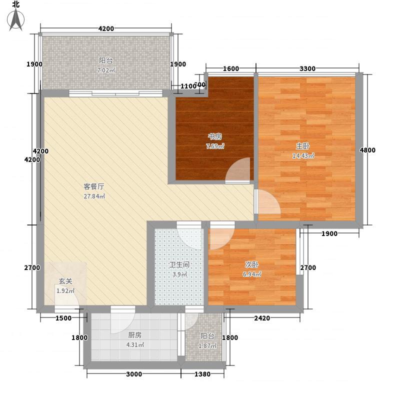 经协大厦28户型3室2厅2卫1厨