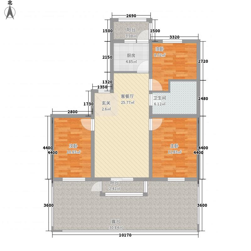 世外桃源6.75㎡4#B1户型3室2厅1卫
