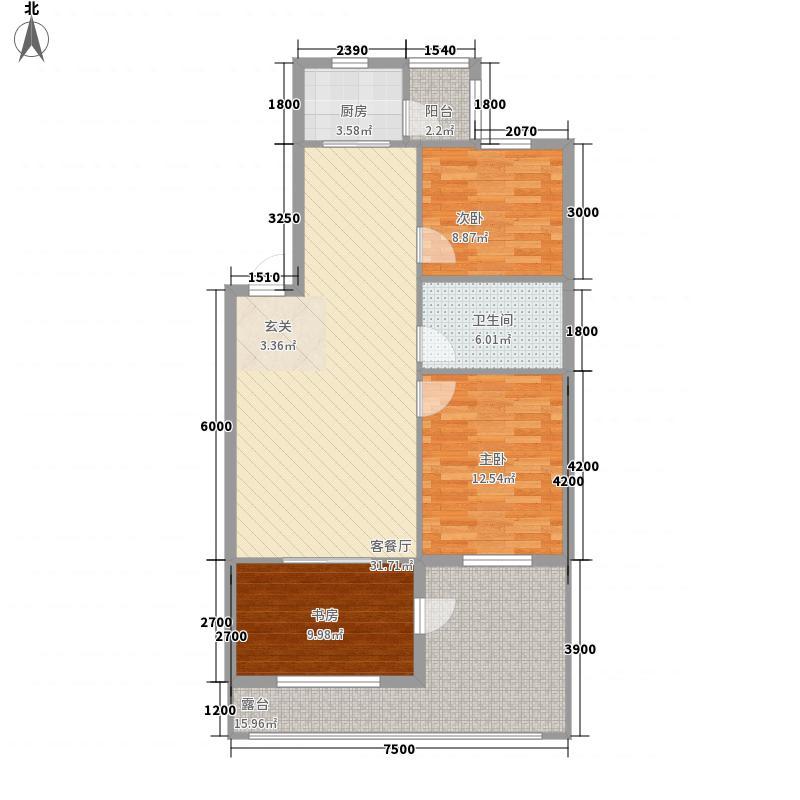 世外桃源7.76㎡3#A1户型2室2厅1卫