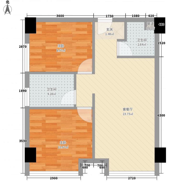 西成新村户型2室1厅1卫1厨