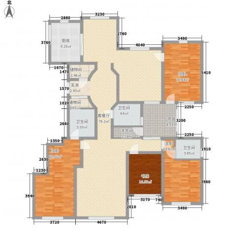 上佳城4室1厅3卫1厨253.00㎡户型图