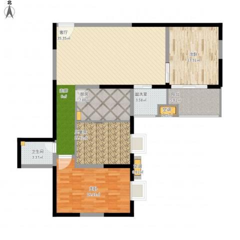 新兴骏景园3室2厅1卫1厨137.00㎡户型图