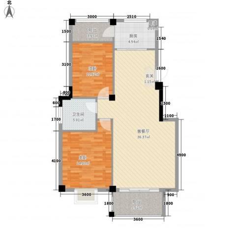 吉星佳地2室1厅1卫1厨89.31㎡户型图