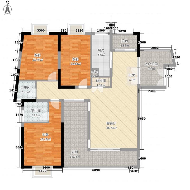 集美花园113.00㎡户型3室