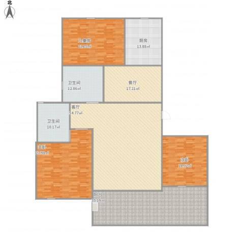 祥生・中央华府3室2厅2卫1厨278.00㎡户型图