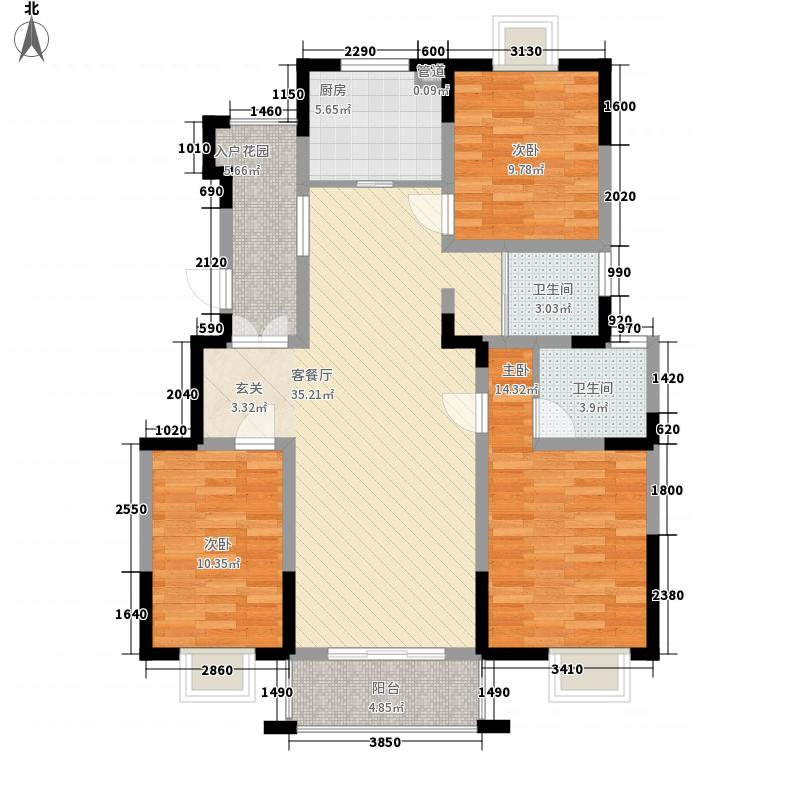 上佳城133.00㎡C户型3室2厅2卫1厨