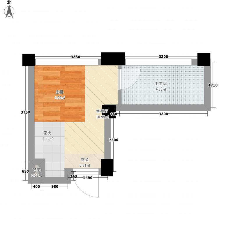 锦里0室1厅1卫0厨15.65㎡户型图