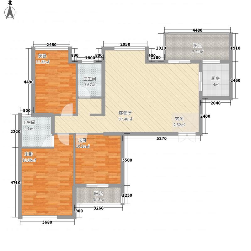 鼎盛佳苑之琥珀城户型3室