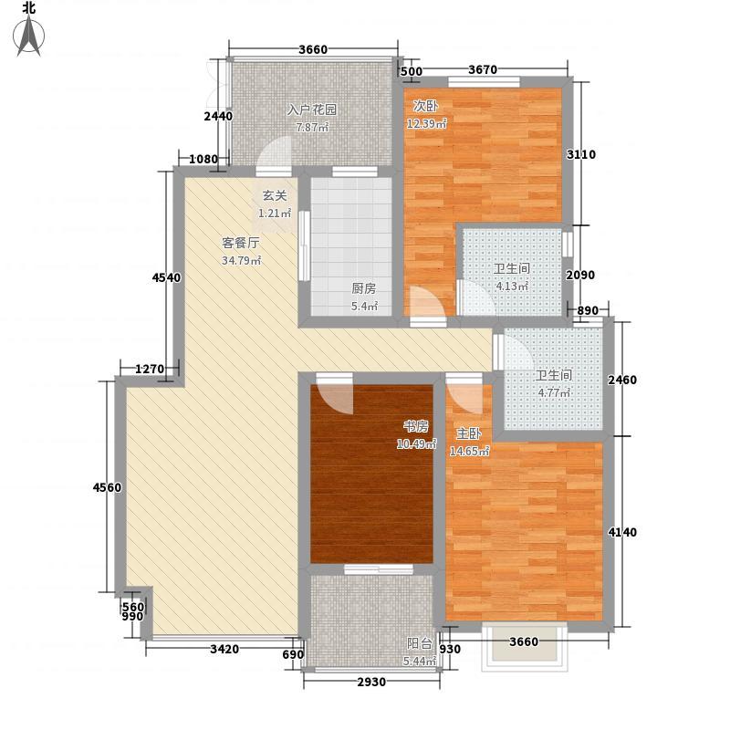 金澜湾143.41㎡D户型3室2厅2卫1厨