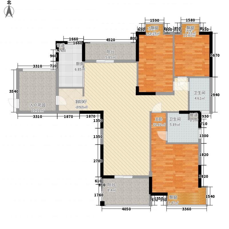 万城131.00㎡二期B6-001户型3室2厅2卫