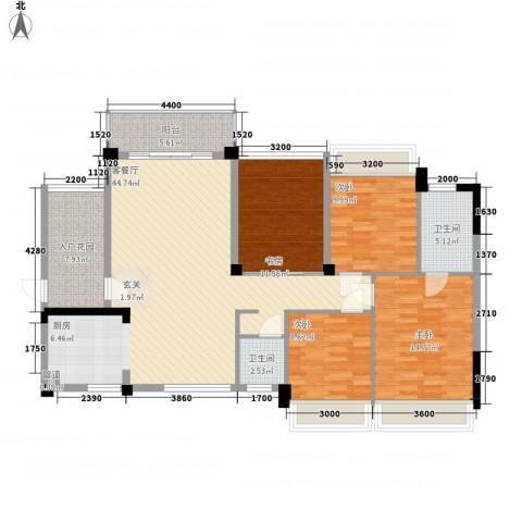 金地华府4室1厅2卫0厨110.96㎡户型图