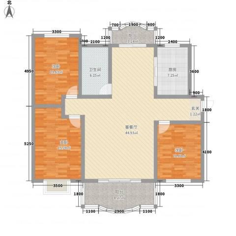 阳光花苑3室1厅1卫1厨158.00㎡户型图