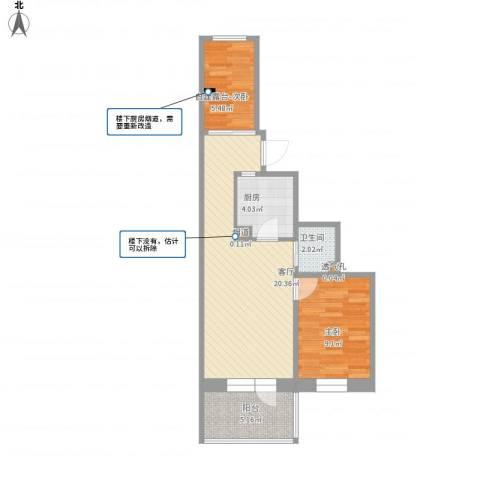 车站东街15号院1室1厅1卫1厨67.00㎡户型图