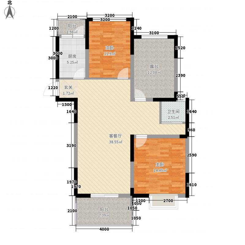 国轩新苑11户型2室2厅1卫1厨