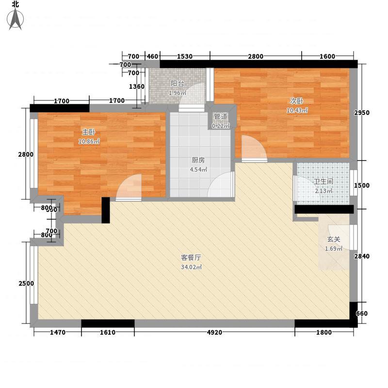 龙湖小区户型2室