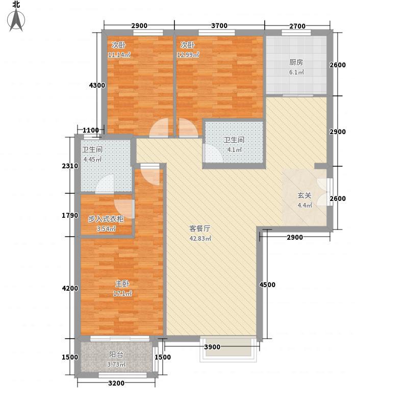 银丰花园125.00㎡3号楼11号楼G3户型3室2厅2卫