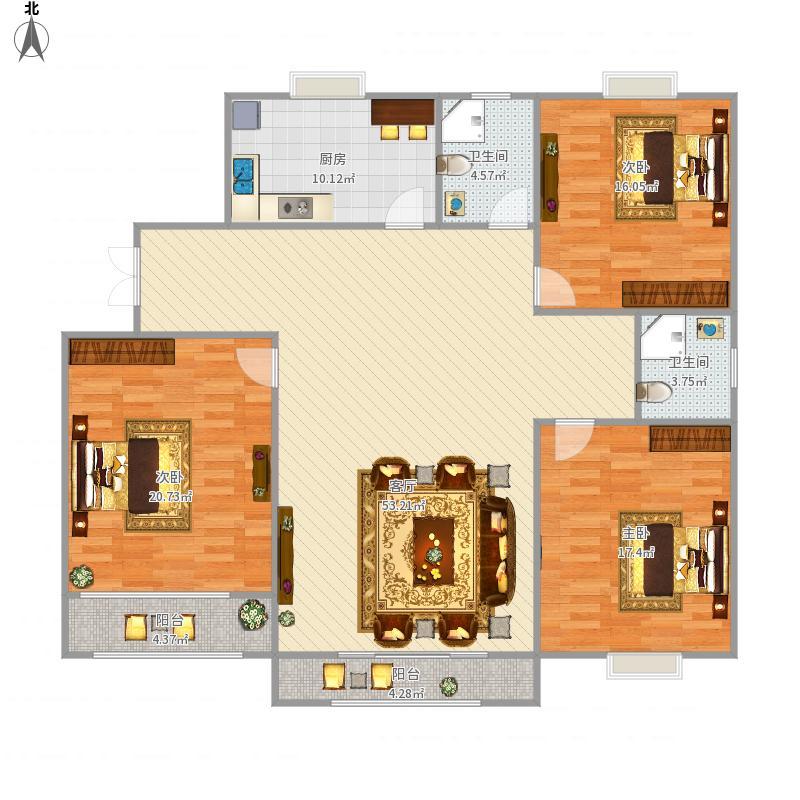 信阳_和谐家苑-3室2厅-143平