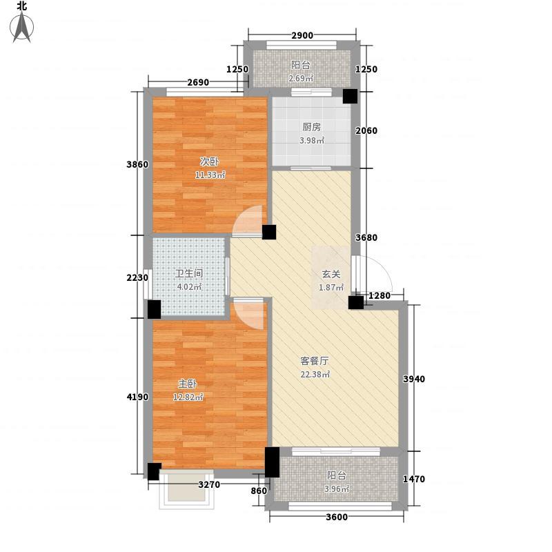 奎文交通局宿舍88.00㎡户型2室