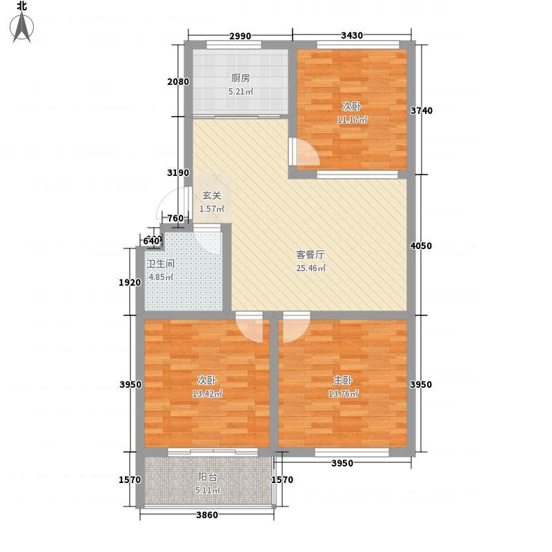 供水处宿舍113.00㎡供水出宿舍户型3室2厅1卫1厨