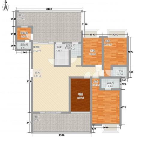 华普大厦4室1厅4卫1厨200.00㎡户型图