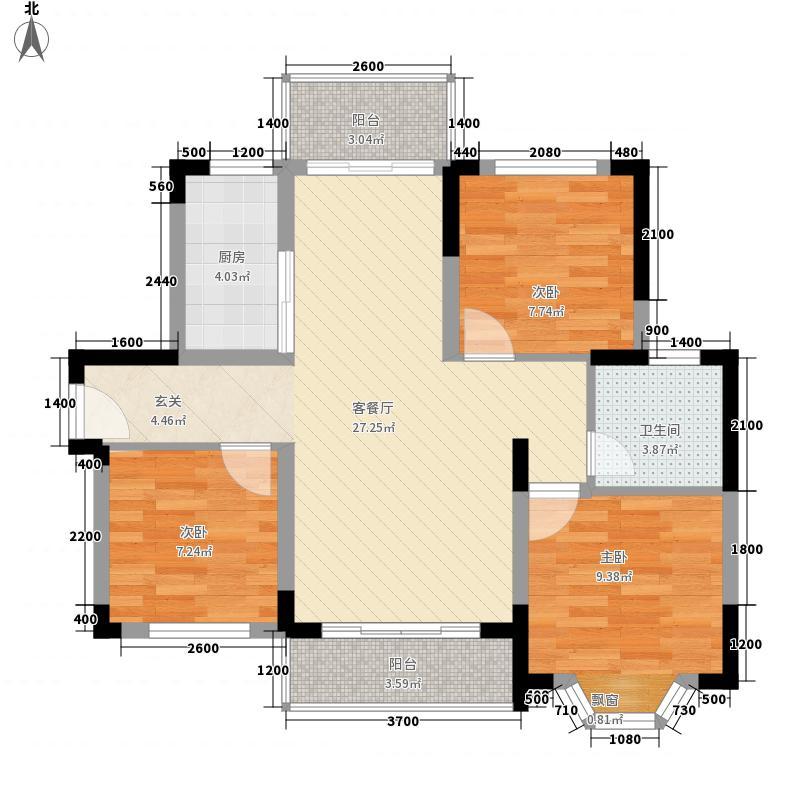 琼海商业步行街户型图7#商住楼A-1 3室2厅